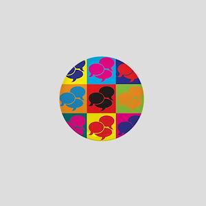 Languages Pop Art Mini Button