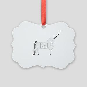 INFJ Unicorn Picture Ornament