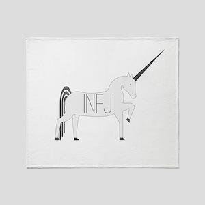 INFJ Unicorn Throw Blanket