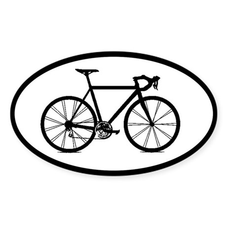 Road Bike Bicycling Cycling Oval Car Sticker