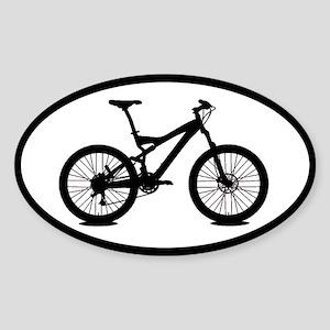 Mountain Bike Biking Oval Car Sticker