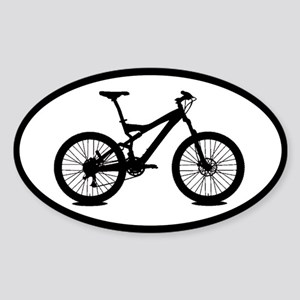 mountain bike biking sticker (oval)