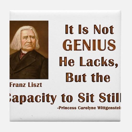 Liszt and Sitting Still Tile Coaster