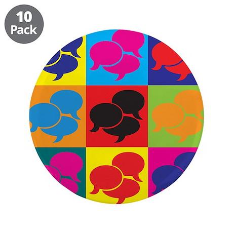"""Interpreting Pop Art 3.5"""" Button (10 pack)"""