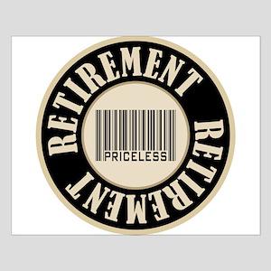 Retirement Priceless Bar Code Small Poster