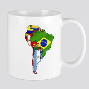 South America Flag Map Mug