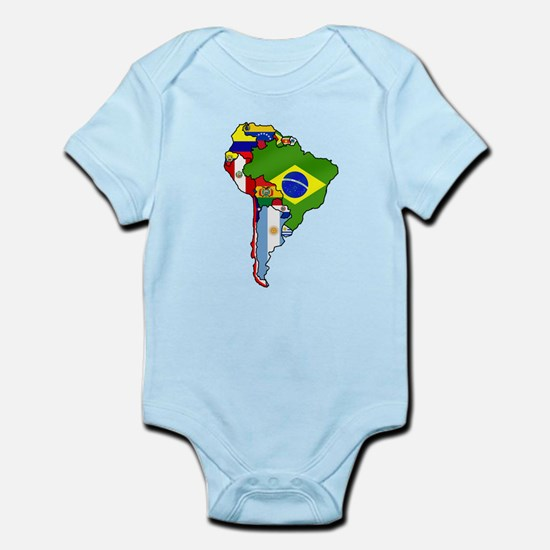 South America Flag Map Infant Bodysuit