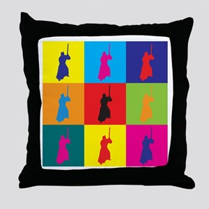 Iaido Pop Art Throw Pillow