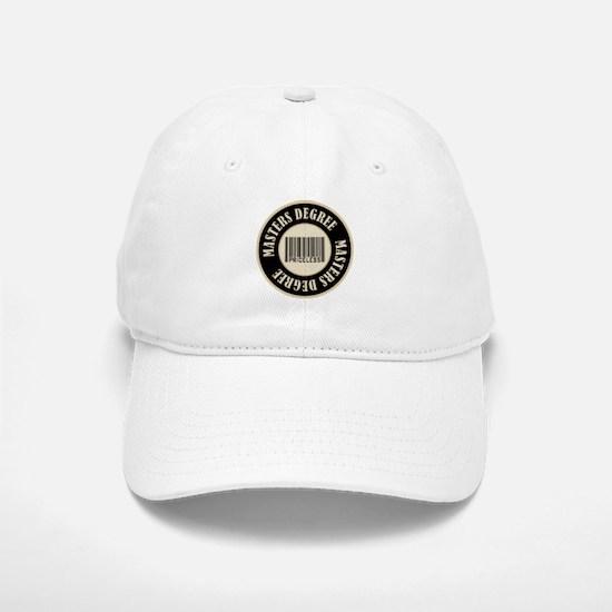Masters Degree Priceless Bar Code Baseball Baseball Cap