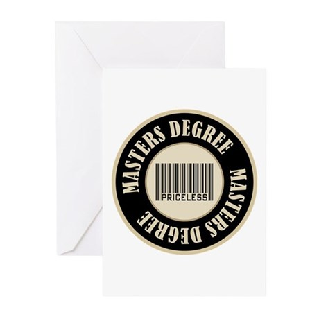 Masters Degree Priceless Bar Code Greeting Cards (