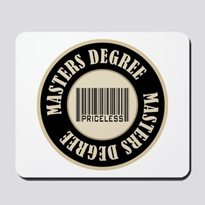 Masters Degree Priceless Bar Code Mousepad