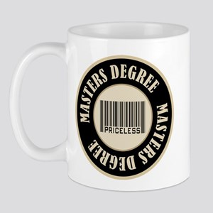 Masters Degree Priceless Bar Code Mug