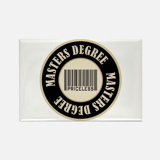 Masters Degree Priceless Bar Code Rectangle Magnet