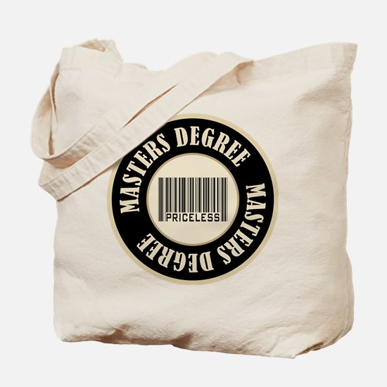 Masters Degree Priceless Bar Code Tote Bag