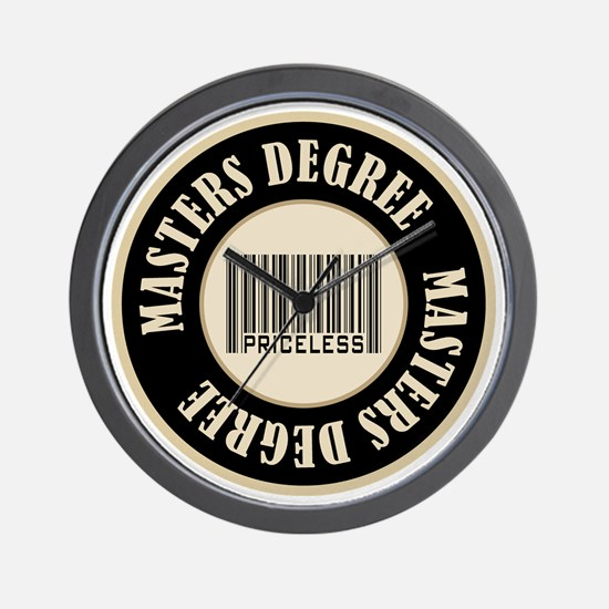 Masters Degree Priceless Bar Code Wall Clock