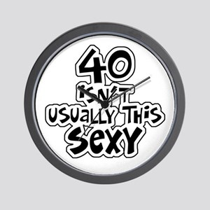 40th birthday sexy 40 Wall Clock