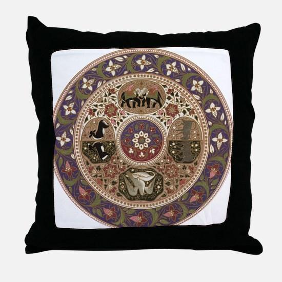 Wheel of Life Throw Pillow