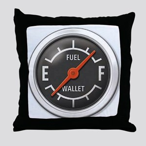 Gas Gauge Throw Pillow