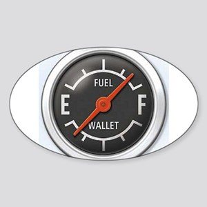 Gas Gauge Oval Sticker