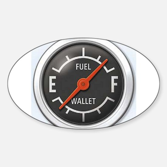 Gas Gauge Oval Decal