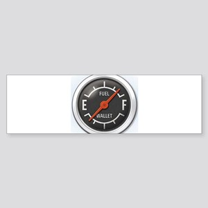 Gas Gauge Bumper Sticker