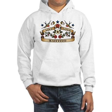 Live Love Knitting Hooded Sweatshirt