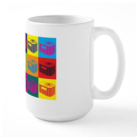 HVAC Pop Art Large Mug