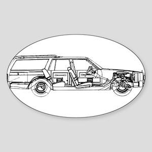 Olds Custom Crus. Oval Sticker