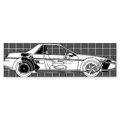 Pontiac Fiero Bumper Sticker (10 pk)