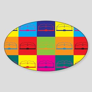 History Pop Art Oval Sticker