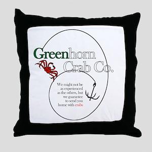 Greenhorn Crab Co. Throw Pillow