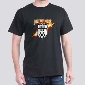 I Get My Kicks on Rt. 66 Dark T-Shirt