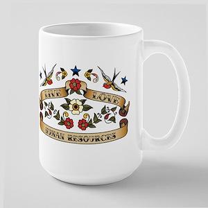 Live Love Human Resources Large Mug