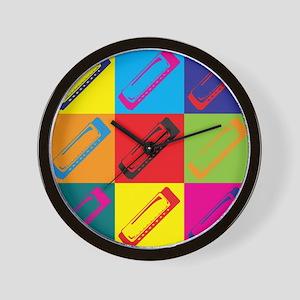 Harmonica Pop Art Wall Clock