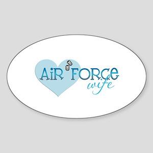 AF Wife Oval Sticker