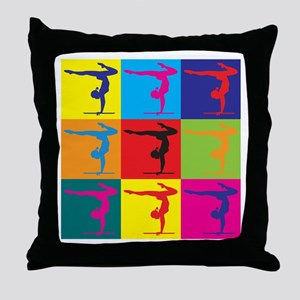 Gymnastics Pop Art Throw Pillow