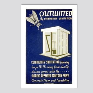 Flies Outwitted Postcards (Package of 8)