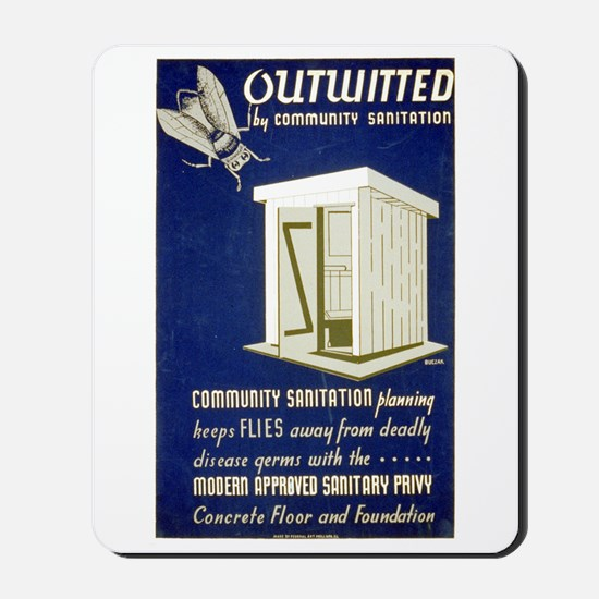 Flies Outwitted Mousepad