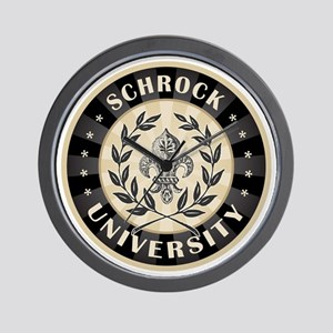 Schrock Personalized Name University Wall Clock