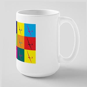 Gliding Pop Art Large Mug