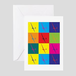 Gliding Pop Art Greeting Cards (Pk of 10)