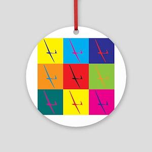 Gliding Pop Art Ornament (Round)