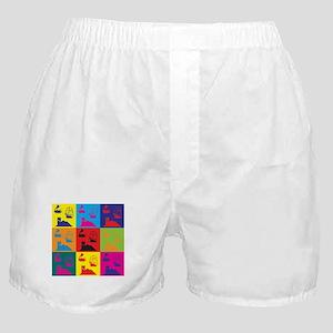 German Board Games Pop Art Boxer Shorts