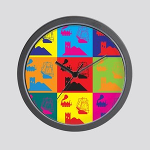 German Board Games Pop Art Wall Clock