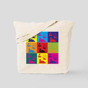 German Board Games Pop Art Tote Bag