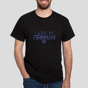 I love my fireman Dark T-Shirt