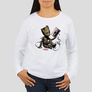 GOTG Groot Cassette Women's Long Sleeve T-Shirt