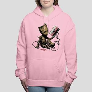 GOTG Groot Cassette Women's Hooded Sweatshirt