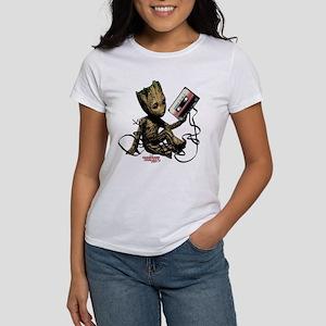 GOTG Groot Cassette Women's Classic White T-Shirt
