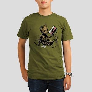 GOTG Groot Cassette Organic Men's T-Shirt (dark)